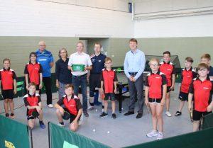 Übergabe Spende Tischtennisverein Biederitz